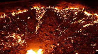 Derweze  gas crater>