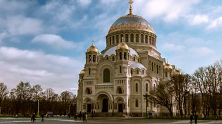 Naval Cathedral in Kronstadt>