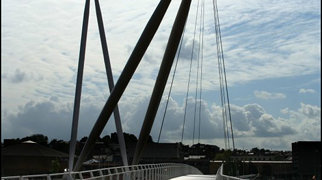 Newport City footbridge>