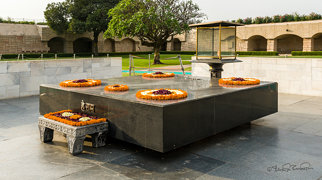Raj Ghat and associated memorials>