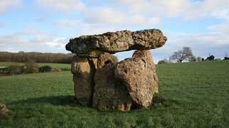 St Lythans burial chamber>