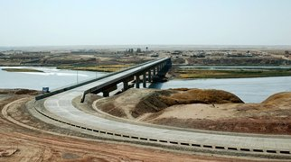Tajikistan–Afghanistan bridge at Panji Poyon>