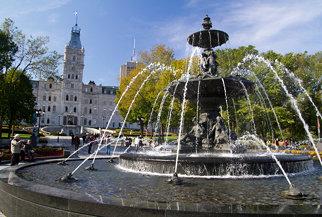 Asamblée Nationale de Québec and Fontaine de Tourny - Québec, QC, Canada