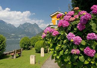 Luganersee, Grenze zwischen Schweiz und Italien