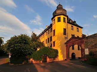 Schloss Vollrads Eingang im Morgenlicht - by DiBe