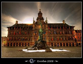 Stadhuis & Brabo, Antwerpen - City Hall and statue of Brabo, Antwerp, Belgium