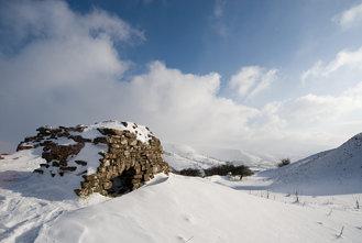 Castell Dinas in Snow