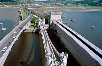 The Three Bridges, Conwy, Wales