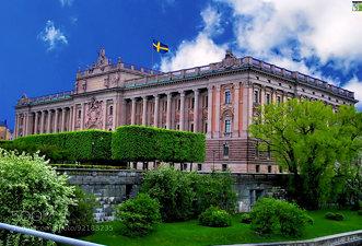 Riksdagshuset, Riksgatan, Gamla Stan, Stockholm, Sweden.