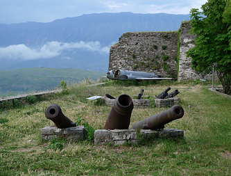 US Plane & Cannons, The Citadel, Gjirokastra