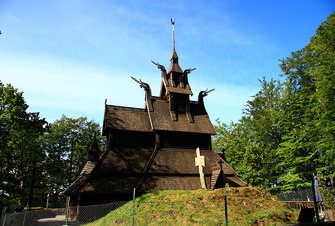 Fantoft Stave Church, Bergen 木教堂