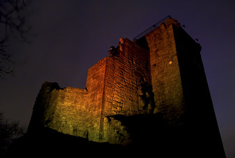 Crookston Castle at Night