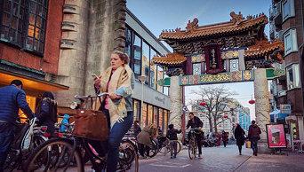 Leaving Chinatown.