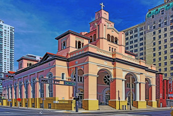 Gesu Church, 118 NE 2nd Street, Miami, Florida, USA / Architect: Orin T. Williams / Construction per