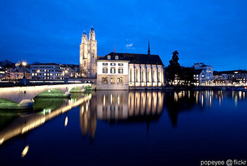 Blue Hour Zurich