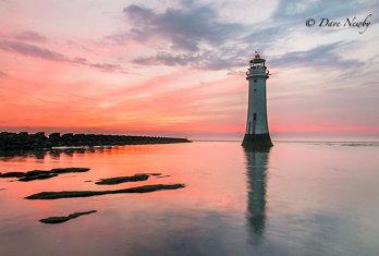 Shaded lighthouse