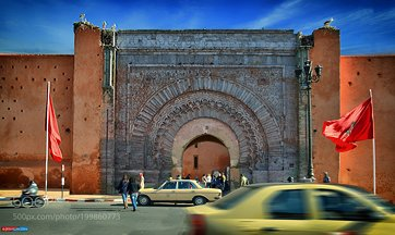 Bab Agnaou, the gate of the kasbah