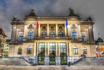 Zurich Opera House (Zürcher Opernhaus) in HDR - Switzerland