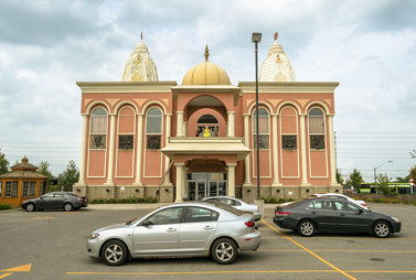 A Hindu temple in Streetsville