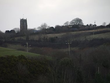 St Stephens Church, Saltash from the fields