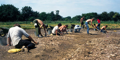 A working shot of the 1980s excavation in the lower area of Cosmeston