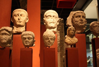 Roman busts in Cologne