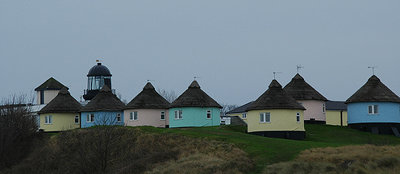Winterton-on-Sea holiday chalets and lighthouse