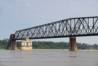 Old Chain of Rocks Bridge and St. Louis Water Intake Tower
