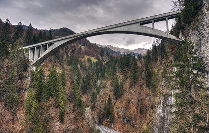 Salginatobel Bridge, an engineering wonder from 1930
