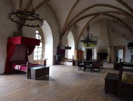 Sklepione pomieszczenia pierwszego piętra na zamku Grodziec