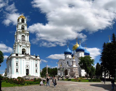 Trinity Lavra of St. Sergius - Bell Tower and The Assumption Cathedral