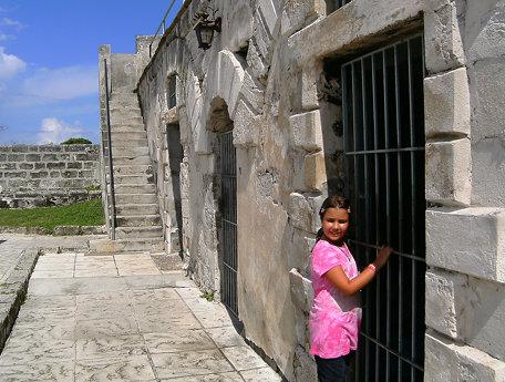Inside Fort Fincastle, Nassau.