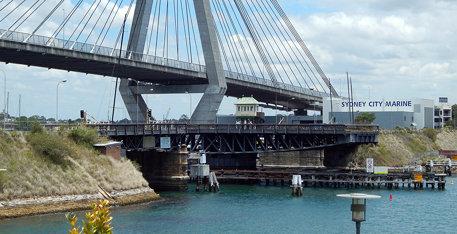 Glebe Island Bridge, Sydney, NSW.