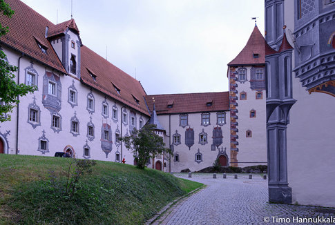 Courtyard of Hohes Schloss Füssen - Castle Füssen