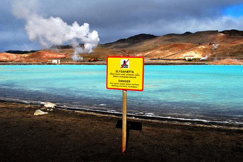 Danger, no bathing