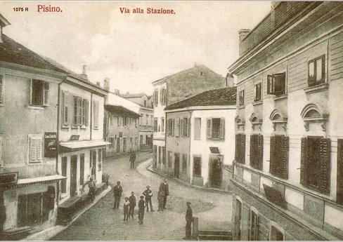Pazin  - Pisino Via alla Stazione Kolodvorska ulica 1912. -  reprint stare razglednice 1075 R Pazin