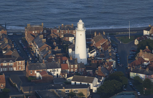 Southwold lighthouse at sunset