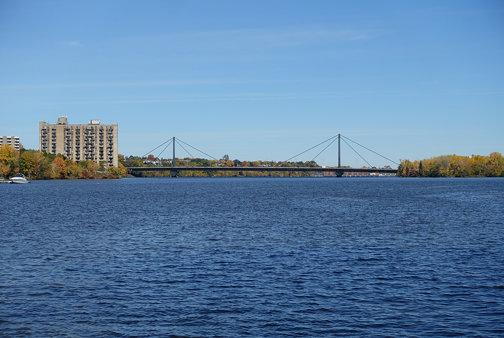 Papineau-Leblanc Bridge @ Rivière des Prairies @ Berge Délia-Tétreault @ Laval
