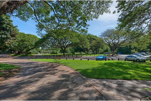 George Brown Darwin Botanic Gardens entrance and lower parking area