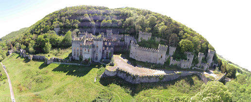 Gwrych Castle Aerial View