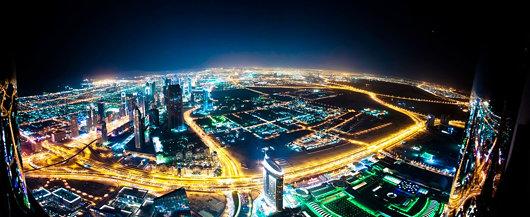 Dubai skyline from the Burj Khalifa