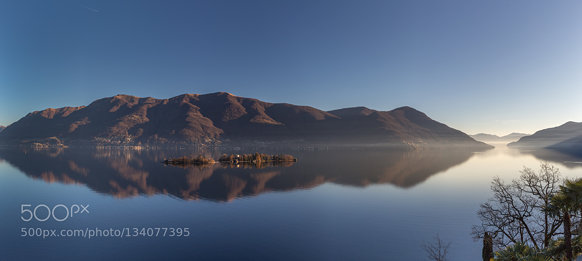 Lago Maggiore reflections on Brissago Islands