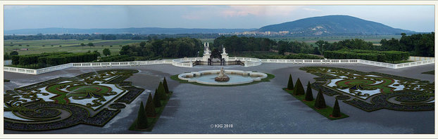 Schlosshof: panoramic view from castle 2011-05
