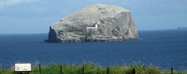 Bass Rock from Tantallon Castle