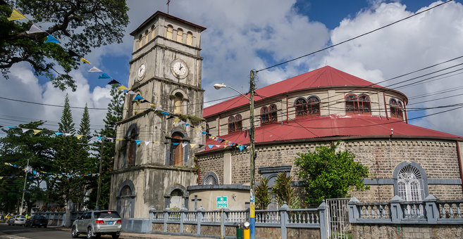 Castries - Cathedral Basilica of the Immaculate Conception in Castries