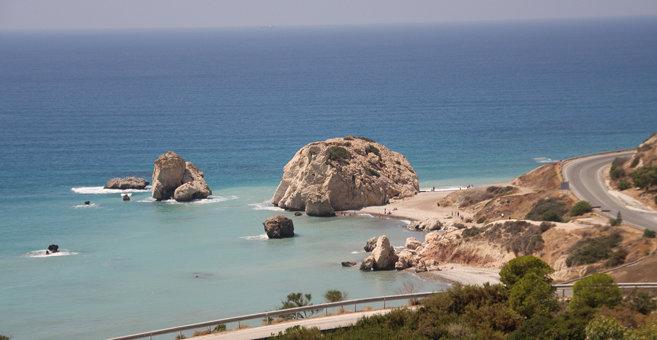 Pafos - Petra tou Romiou (klippa i Cypern)