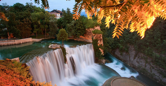Jajce - Pliva waterfall
