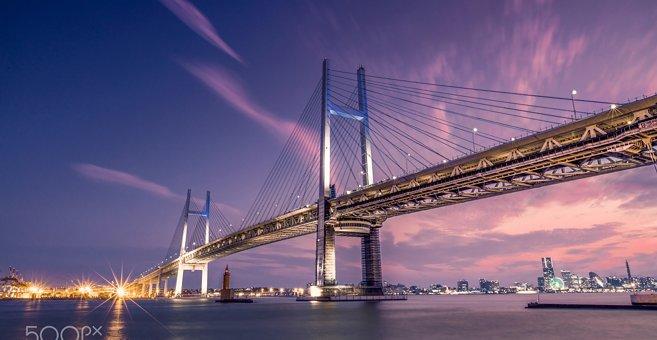 Yokohama - Yokohama Bay Bridge
