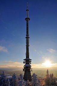 Ochsenkopf radio- and TV-tower - Ochsenkopf Rundfunk- und TV-Turm
