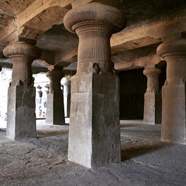 Cave temple hand-carved by Hindu monks, Elephanta Island, Mumbai, India 59/365 #project365 #365 #mum